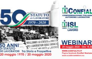 Cinquant'anni dallo statuto dei lavoratori 1970/2020. Tra Storia e Prospettive 20 maggio 1970 / 20 maggio 2020. Webinar 20 maggio ore 15-30.